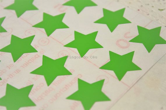 Green Star Stickers - Planner Stickers - Birthday Stickers - Party Sticker - Seal Sticker - Envelope Seal - 2.3 cms - Made to Order