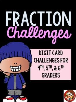 Fraction Challenges with Digit Cards for 4th,... by Math Lady in MD | Teachers Pay Teachers