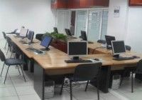 We invest heavily in training for our travel agency customers. This is the training room in Douala, Cameroon.