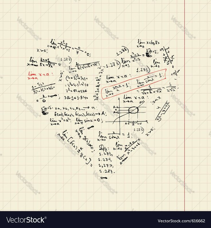 heart shape with math formulas for your design. Download a Free Preview or High Quality Adobe Illustrator Ai, EPS, PDF and High Resolution JPEG versions.