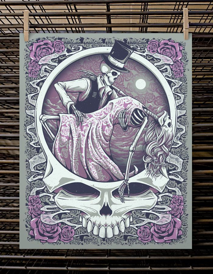 One Last Dance Fare Thee Well Poster Print Grateful Dead Like EMEK Masthay | eBay