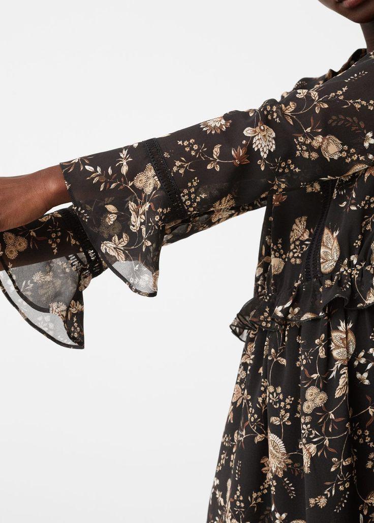 Vestido estampado fluido | MNG