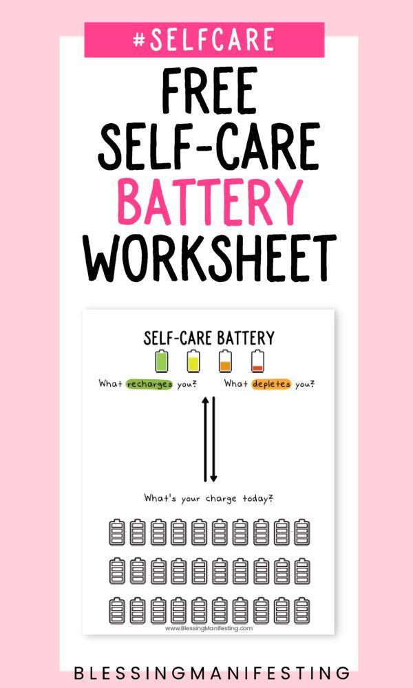 Self-Care-Batterie: Laden Sie Ihre auf! – Group Therapy Activities, Handouts, Worksheets