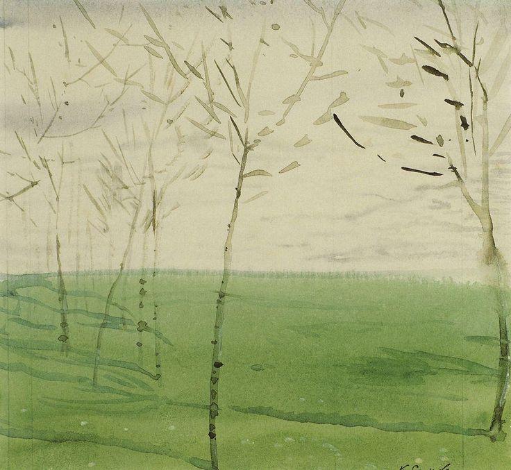 Весенний пейзаж. 1910 |