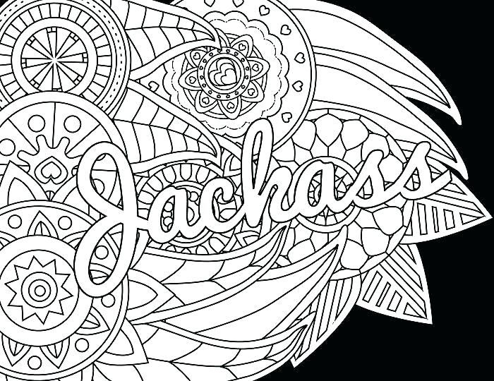 Swear Word Coloring Pages Adult coloring book pages