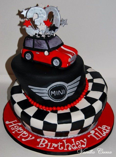 mini cooper cake... I know someone who would love this. :)