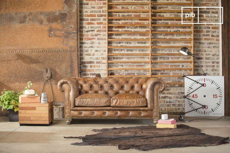 Eine vintage Sprossenwand wirkt mit der richtigen vintage Einrichtung noch besonderer.