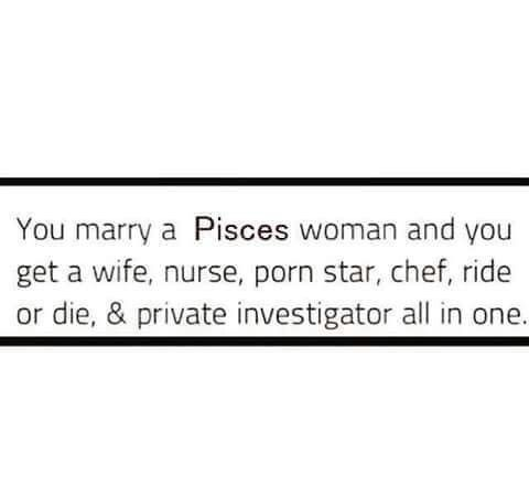 Only a PISCES                                                                                                                                                     More