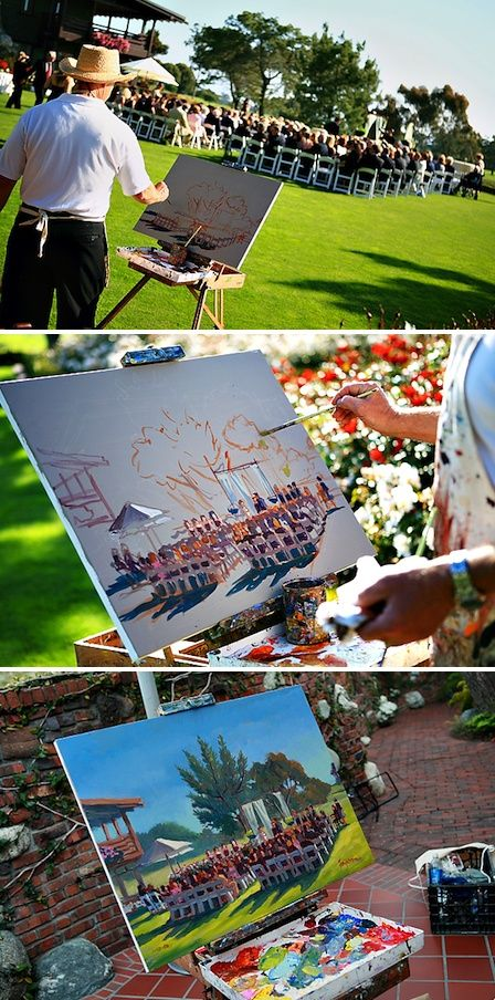 Have someone paint your wedding day so you can relive it every time you see it hanging