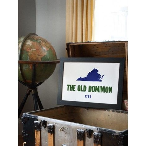 The Old Dominion Hand Pressed Print by The Old Try