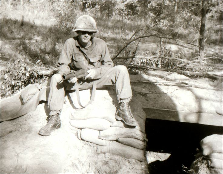 Guarding a bunker with an M-79 grenade launcher at Ft. Polk.  OK, I was posing for a picture. April 1969