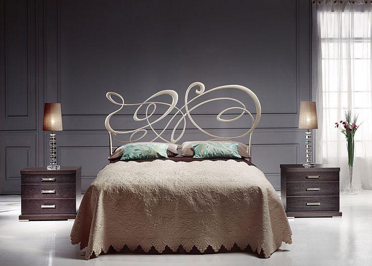 dormitorio forja paladio vision material forja o hierro cabecero de de noche