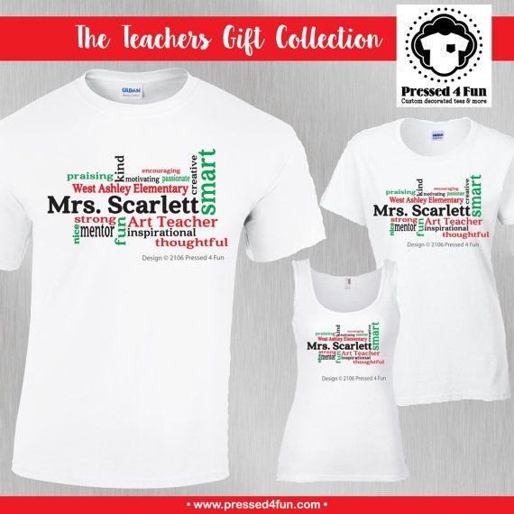 Teacher Shirts: Word Art Design • Teacher Gifts • Word Art Shirt • Teacher Appreciation