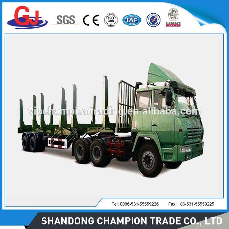 2 axles Log Transport semi trailer