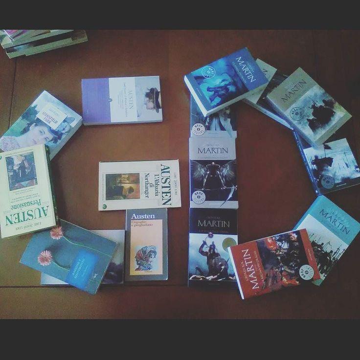 Recuperiamo la challenge di ieri della #ireadchallengemay di @leggendoabari - L'iniziale del tuo nome con i libri Ed ecco qua G di Gioia con i libri di Jane Austen e D di Debora con i libro di George Martin #libri #leggere #lettura #books #bookstagram #instalibro #instabook #instalike #like #bookish #booklover #bookworm #bookaddict #book #letter #book #bookaholic  #janeausten #georgerrmartin #instagood #lovebooks #passionelettura #amoleggere #bookblog #g
