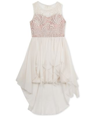 Rare Editions Embroidered-Bodice Tulle Dress, Girls (7-16) | macys.com