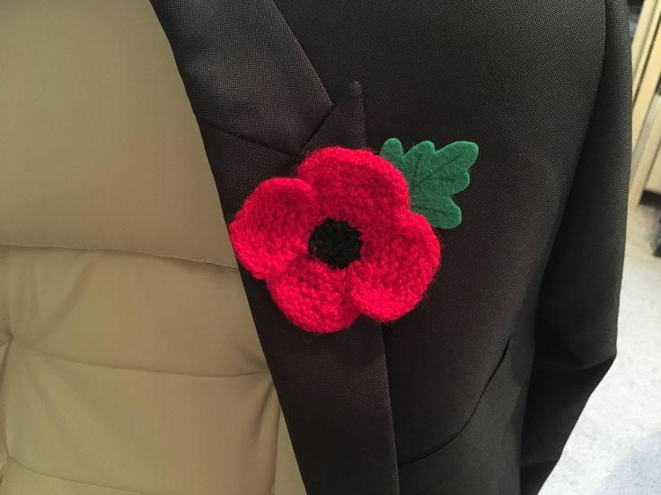 Hand Knitted Remembrance Day/Armistice Day Poppy - profits to British Legion by JocastaMadeThis on Etsy