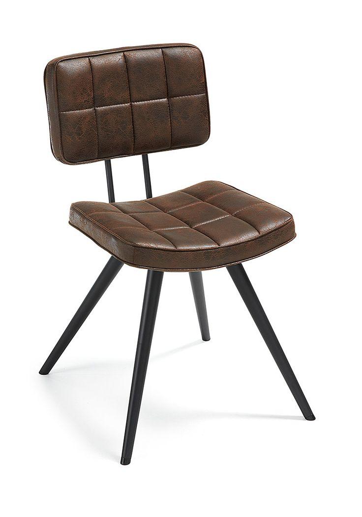 Sedia moderna per sala da pranzo Frankie in pelle sintetica e metallo. By Viadurini Collezione Living. [www.viadurini.it]