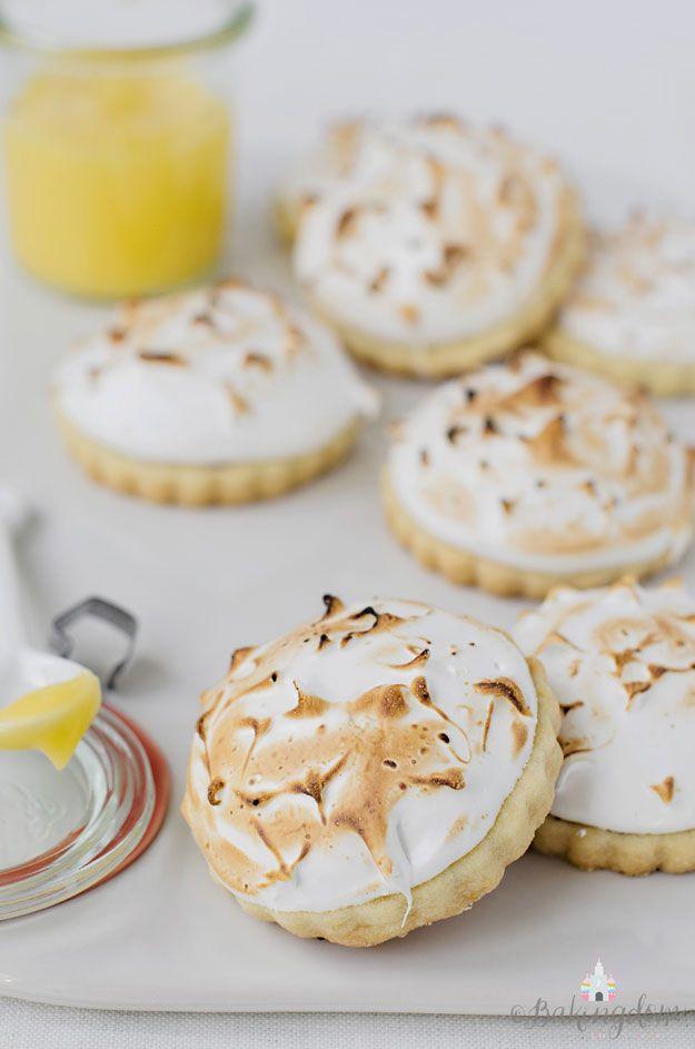 mini lemon meringue shortbread cookies.