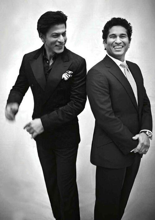 SRK and Sachin pic from: GQ Mag 2014. NTDV 25 Legends Celebation.