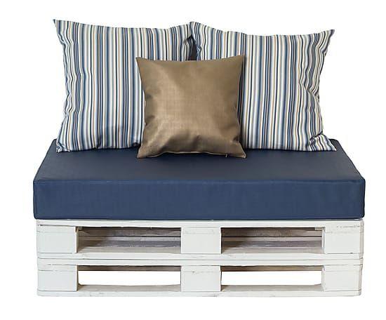Waterdichte Bank Seasy, wit/marineblauw/goud, B 320 cm