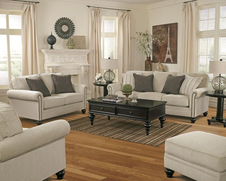 Milari - Linen Stationary Living Room Group by Signature Design by Ashley