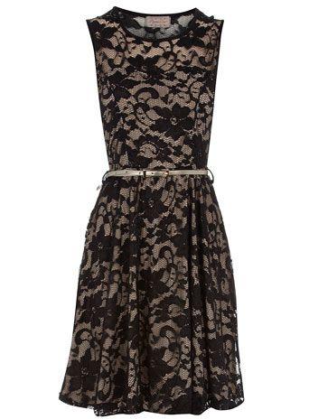 Black lace skater dress: Pretty Dresses, Fashion Shoes, Skater Girls, Beckabella Style, Lace Skater, Black Sleeveless, Black Lace Dresses, Dresses 59, Skater Dresses