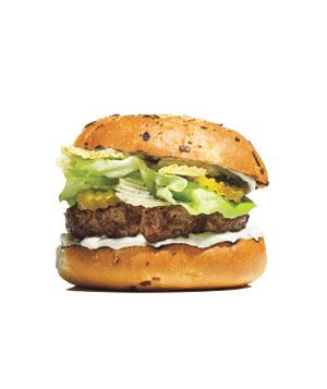 Onion Dip and Potato Chip Burger