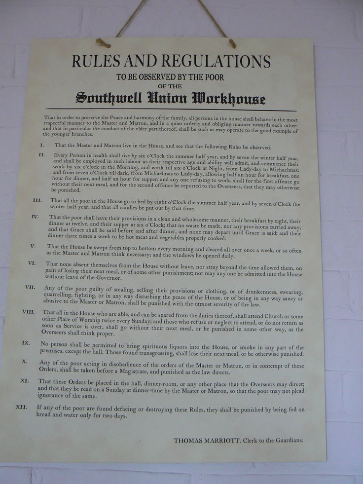 Workhouse Rules