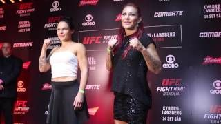 cool Lina Lansberg, newest 'Cyborg' Justino challenger, states match is 'ideal'