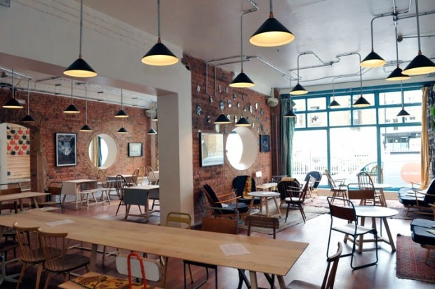 yatzer-the-book-club-tbc-london-4-620x411: Interior, London, Cafe, Book Clubs, Bar, Place, Restaurant, Bookclub, Coffee Shop
