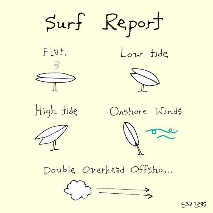 surf cartoon illustration humor surf art surfboards http://sealegssmile.com cartoonist/illustrator: Claire Williamson