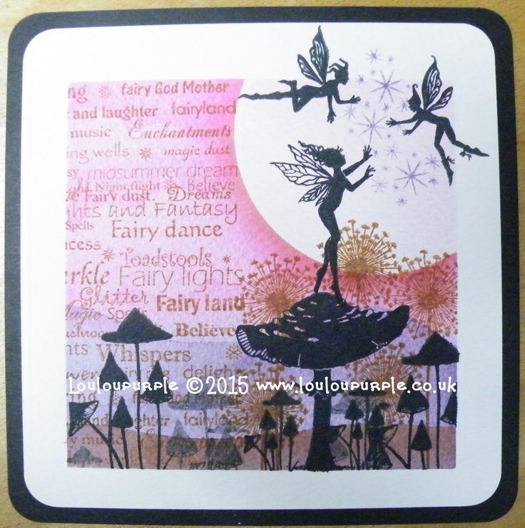 Display Work Using Distress inks & Lavinia Stamps