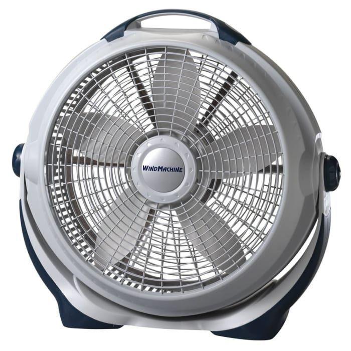High Velocity Fan 3-Speed 360C Vertical Tilt Portable Indoor Steel Painted 20-In