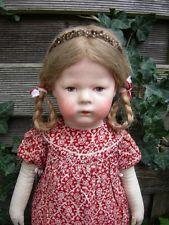 Alte antike Käthe Kathe Kruse Doll Puppe IH (1H), breite Hüften, ca 43cm