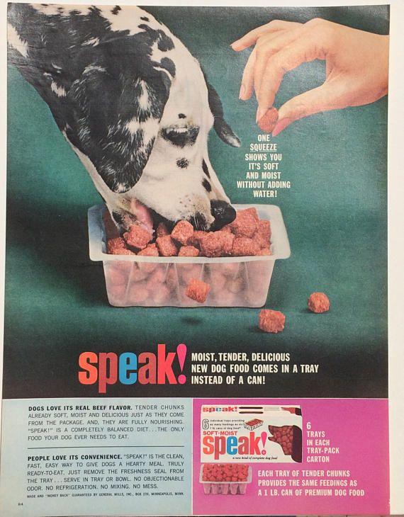 1963 Dalmatian Speak Dog Food Advertisement Mother's Day