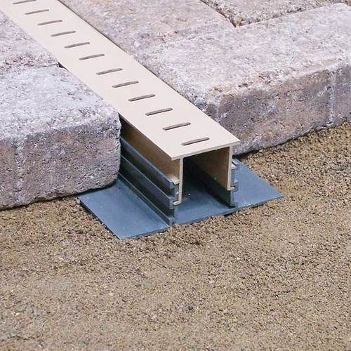 Stegmeier Adjustable Height Paver Drain (Marble) 10' #deckideas