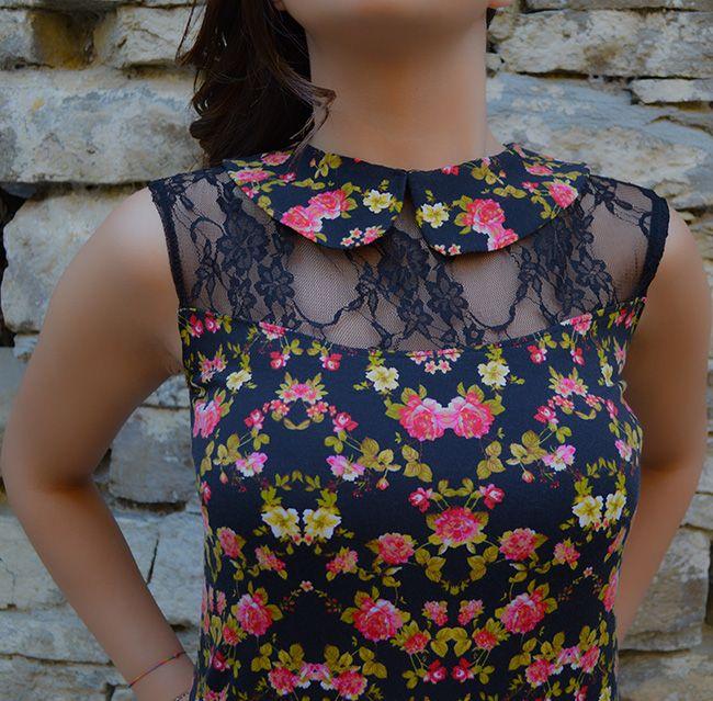 Rosellina Mele - Top con colletto