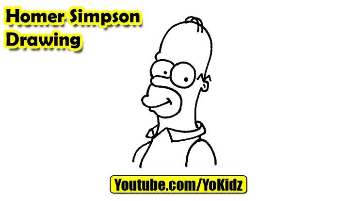 How to draw Homer Simpson easy  Simpson Drawing from YoKidz  #YoKidz #Drawing #PencilDrawing #Generaldrawing #Like4like #Likeforlike #Share4share #SHareforshare #Draw #DrawSimpson #Blackandwhite #Simpson