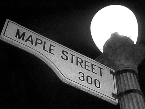 """""""The Monsters Are Due On Maple Street"""" (SS 1 Ep 022) After a black-out, a suburban neighborhood suspects an alien invasion is imminent."""