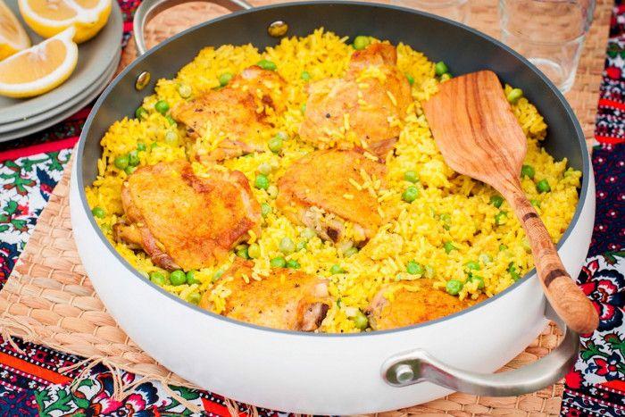 Курица карри с рисом и горошком: пошаговый рецепт