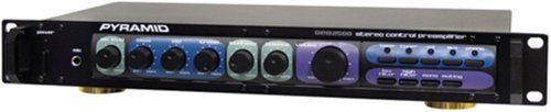 "Pyramid PR2500/SEA2500 Professional Home Studio Pre-Amplifier by marathon. $66.22. Power On/Off Switch With LED Indicator Microphone Input Jack Microphone Level Control Bass/Midrange/Treble/Loudness/Balance Controls Master Volume Control High/Low Frequency Filter Stereo/Mono Switch Muting Switch Input Source Selector Tuner/CD/Aux/Phone Input Rca Jacks Tape Monitor Switch 110V/220V Switchable Rack-Mount Design Dim: 2.375""H X 19""W X 8.5""D. Save 60% Off!"
