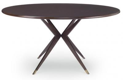 Atlantis Dining Table | Mr. Brown Dimensions: Base: Dia 39 x H29 Overall with Top: H30.5 Available Top Sizes: Dia.48, 54, 59, 72