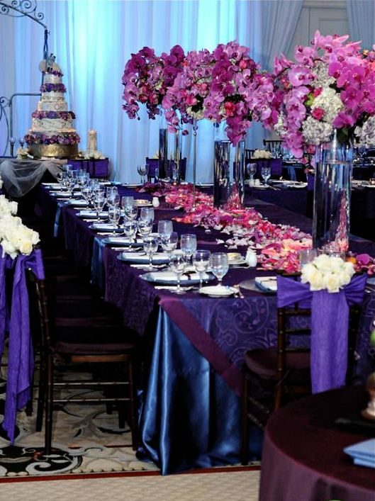 Deep Purples And Blues Were A Lovely Hue At This Fsdallas Wedding