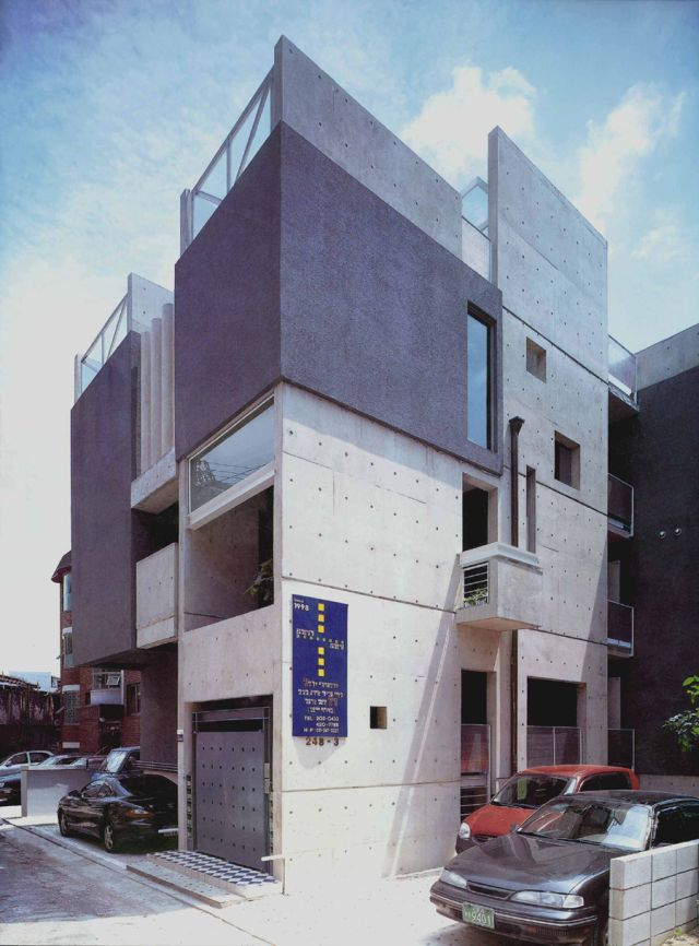 하늘마당2/방철린 Haneul-Madang2 Residence by Bang, Chulrin/Architect Group CAAN. Win the 1999 architectural prize of KIA Awards.