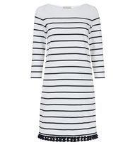 Blue Sally Tassel Dress | Casual Dresses | Dresses | Hobbs