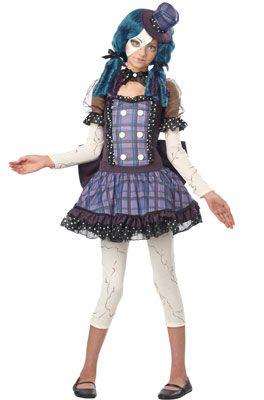 Broken Doll Tween Costume #Halloween #costumes #brokendoll