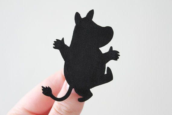 Moomin Brooch from Oh My Clumsy Heart on etsy