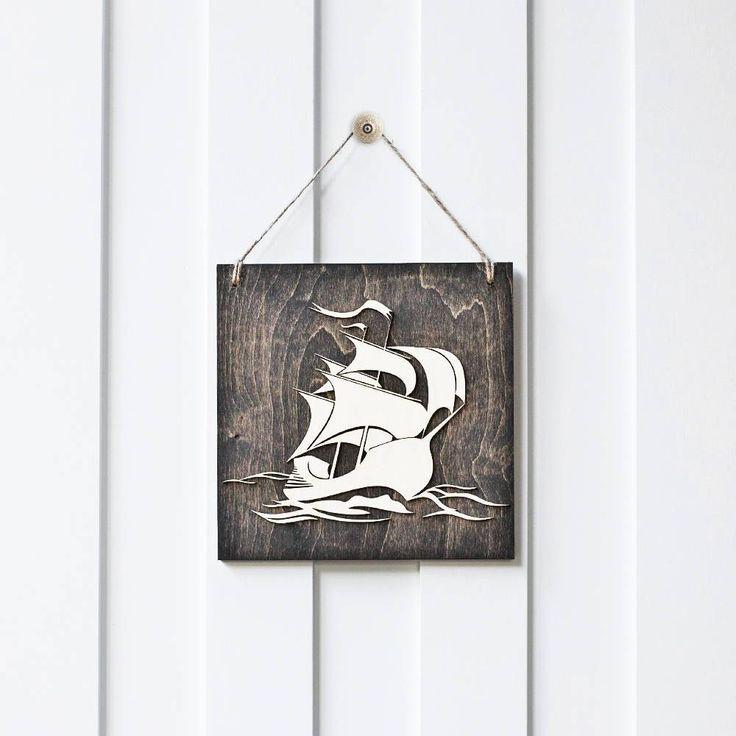Ship Sign, Nautical Sign, Ocean Decor, Boat Decor, Nursery Decor, Wood Sign,Baby Shower Decor   GiftedOccasion.com