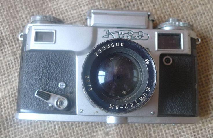 Vintage USSR Soviet KIEV RF 35mm CAMERA #7909502 LENS JUPITER 8M 2/53 #7923800 #Kiev